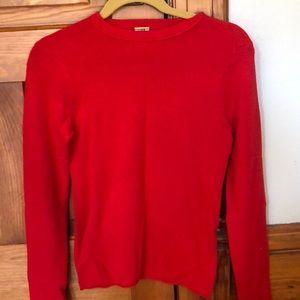 JCREW 100% cashmere crew neck sweater size small S